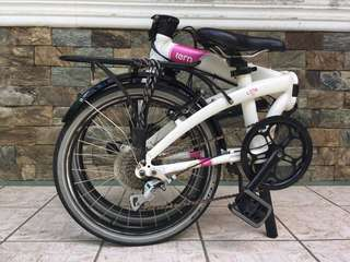 Tern Link D8 Folding Bike (White/Pink)