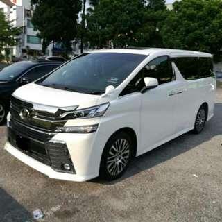 New Toyota Vellfire 2.5 (A) Pilot Seat Full Spec
