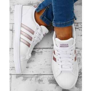 Adidas Cloudfoam White and Rose Gold sneakers