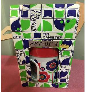 1970's Funky Retro Kitchen Canisters Still in Box!
