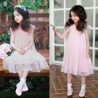 [INSTOCK] PINK TULLE PARTY DRESS SET
