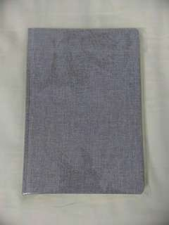 A5 Grey Textured Cover Notebook, 80 Plain Double-sized Pages