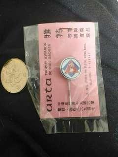 全新 珍藏品 南華會 絕版襟章 襟針 197x - 198x 年 香港製造