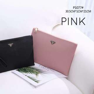Prada Clutch 2 in 1 Pink Color