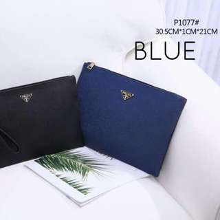 Prada Clutch 2 in 1 Blue Color
