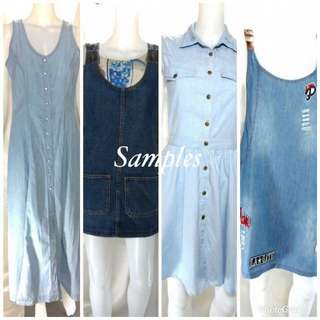 Denim Dress Korean-China Half Bundle