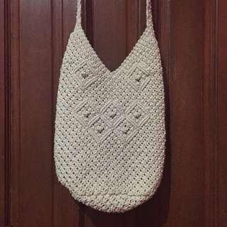 Boho Woven Bucket Bag