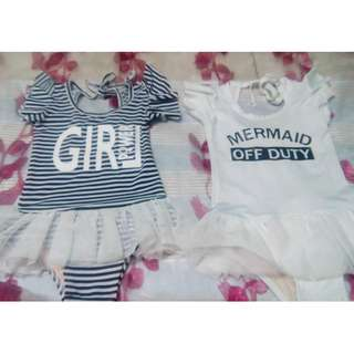 FS : BABY BUNDLES STATEMENT SWIMSUITS (ONHAND READY TO SHIP 3- 7 Y)
