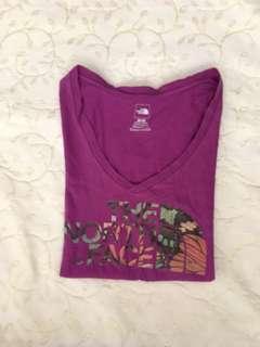 Charity Sale! Authentic North Face Purple Organic Cotton Soft Women's Size Medium T-shirt