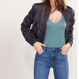 Dynamite Quilted Bomber Jacket Size XS