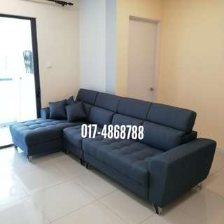 Sofa 3+L-Shape Waterproof Fabric with Pocketed spring