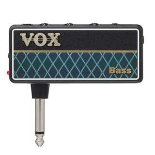 Vox amPlug 2 Bass Headphone Guitar Amplifier (AP2-BS)