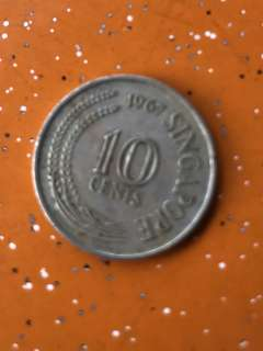 Singapore 10 Cents (with Seahorse) 1967