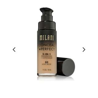 MILANI PERFECT 2-IN-1 FOUNDATION + CONCEALER