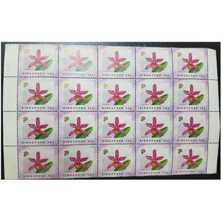 1991 Singapore Stamps Orchids 30 Cents Stamp x  20