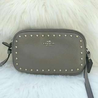 Coach Crossbody Rivets in Fog