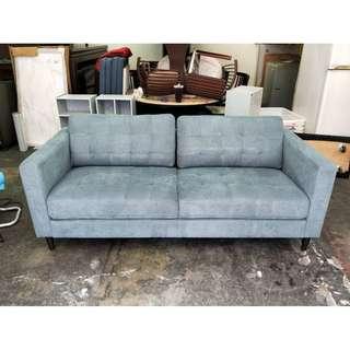 非凡二手家具IKEA丹寧色 三人座布沙發*二手沙發*沙發椅*客廳沙發*沙發床*辦公沙發