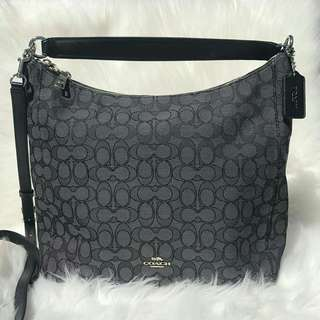Coach Celeste Hobo in Smoke Black
