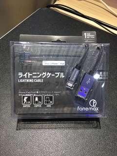 Fonemax 0.2m (Lightning) 充電線 2.4A