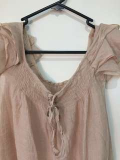 Brown top : Size Small
