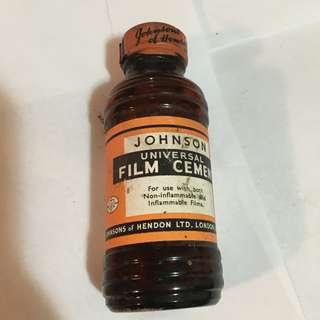 Vintage Johnson Universal Film Cement Unopened