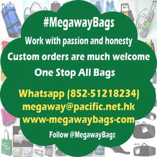 Megaway Bags Factory work with passion and honesty. Pls feel free to talk to us for your next coming project or new design. #Megaway #MegawayBags