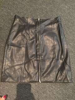 Bardot leather skirt with zip