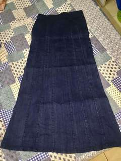 Skirt maxi skirts denim