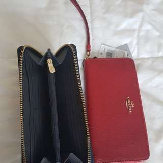 Coach wallet with RFID protection