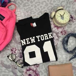 H&M New York 91 Sweater Black