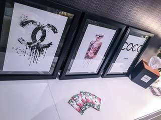 Chanel prints framed