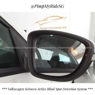 2018 Latest Active Blind Spot Detection System (ABSD) - For Scirocco (Customized Plug and Play) & Universal (For All Car Makes & Models) Price Inclusive Of Installation!