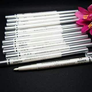 Pensil eyeliner aigner putih 2 in 1 eyeshadow
