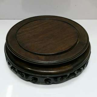 Old Chinese Wooden Vase stand..D24cm huge