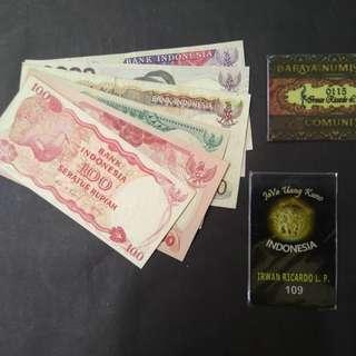 Uang kuno Uang jadul paket borongan 6 lembar