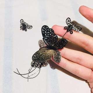 asymmetrical butterfly earrings