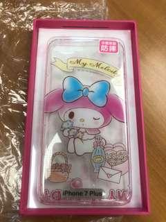 iPhone 7plus 透明防摔矽膠電話套 My Melody正品