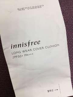 正韓 全新 現貨 innisfree 超持妝美肌舒芙蕾氣墊粉餅蕊心 LONG WEAR COVER CUSHION SPF50+ PA+++