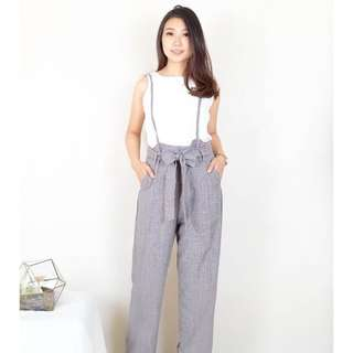 Ribbon Overall Jumpsuit