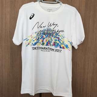 (送索繩袋) Asics Tokyo Marathon tee (M size)