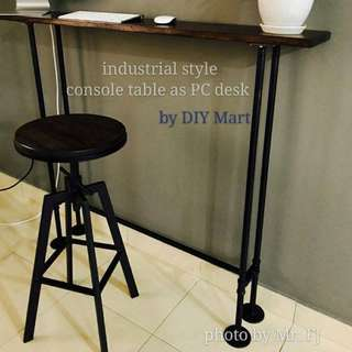 100cm Hard Wood Loft Style Console Table