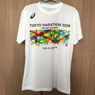(送索繩袋)Asics Tokyo Marathon 2018 tee (M size)