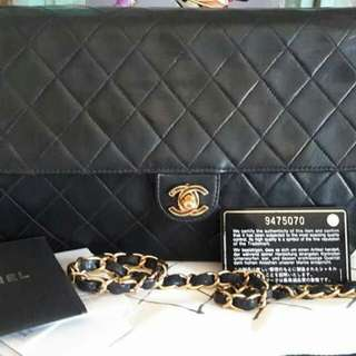 Authentic Chanel Lambskin