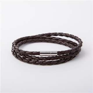 Umber Brown - Braided Leather Bracelet | Gelang Kulit Unisex