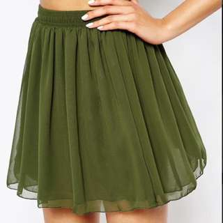 NEW WITH TAGS American Apparel Chiffon Double Layered Shirred Waist Skirt XS/S