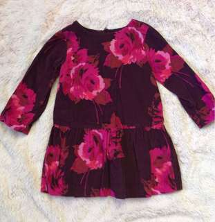 EUC Baby GAP floral dress