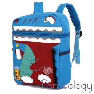 2 Colors! Dinosaur Korean Kids School Bags Backpack for Kid Travel Bag
