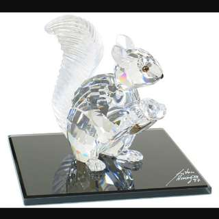 Swarovski crystal 1997 The Squirrel 10th Anniversary edition