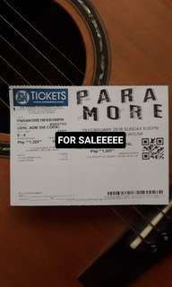 Paramore Concert Ticket
