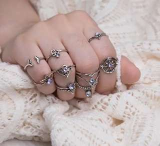Rings Knuckle 9pcs Purple 現貨